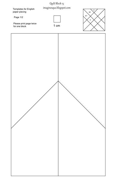 foundation template imaginesque quilt block 15 templates for epp fabric