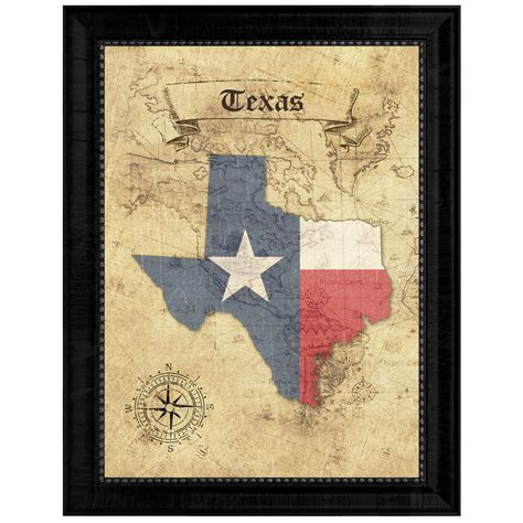gift for home decoration texas state vintage map gifts home decor wall art office