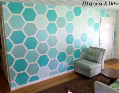 wall designs paint how to paint a hexagon patterned wall a designer at home