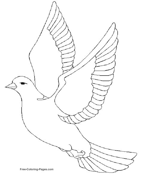 peace dove coloring page az coloring pages