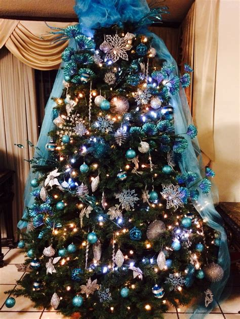 christmas trees tourquoise and silver tree turquoise and silver random