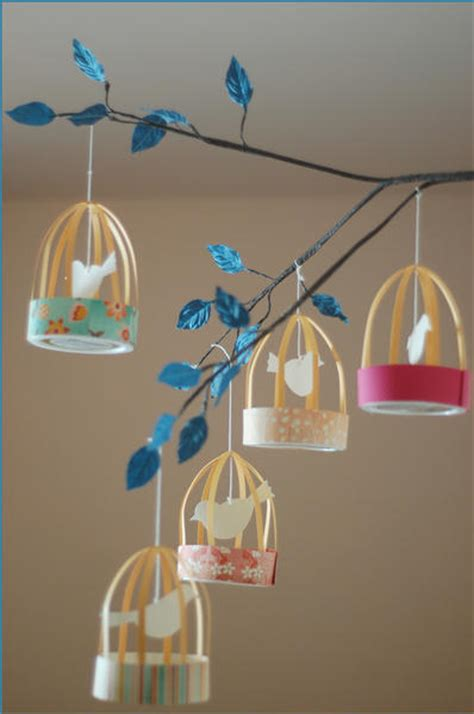 Paper Bird Cage Craft - a scrap of time march 2011