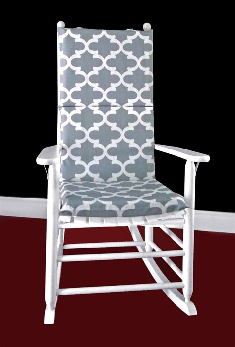 Rocking Chair Cushion Covers by Grey Indian Regency Rocking Chair Cover