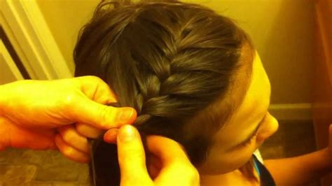 how to big french side braid youtube side french braid hair tutorial for beginners youtube