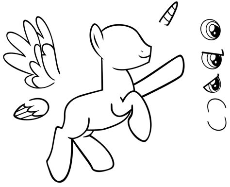 my little pony sirens coloring pages blank pony doll male by akili amethyst on deviantart