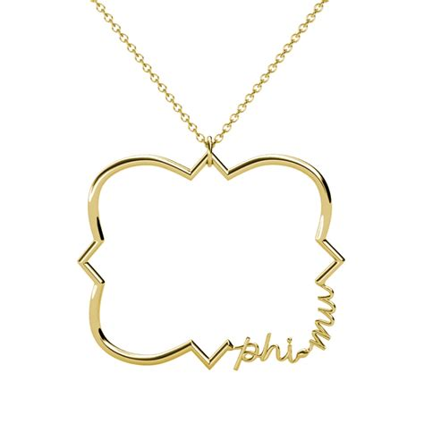 phi mu quatrefoil necklace a list designs