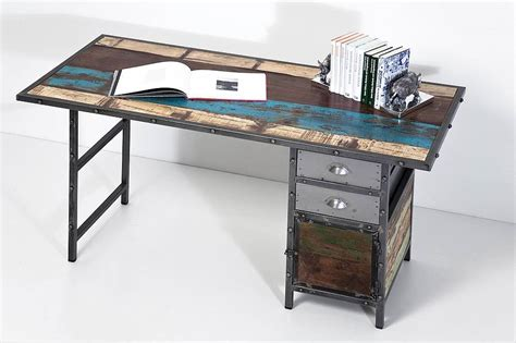 industrial style desk with drawers industrial distressed desk with drawers by i love retro