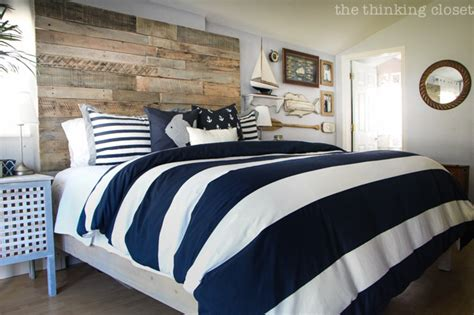 nautical bedroom before after rustic nautical master bedroom makeover the thinking closet