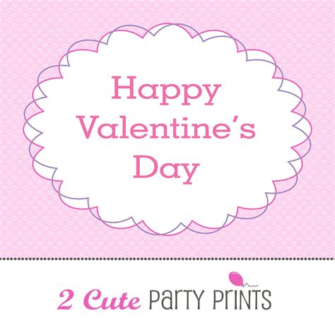 happy valentines day printable 7 best images of free printable happy s day