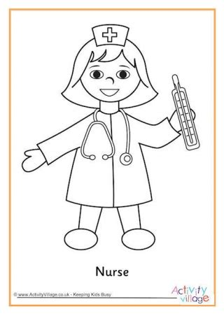 coloring pages for nurses who help us colouring pages
