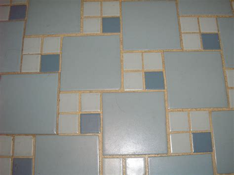 blue tile bathroom floor replicating alice s blue 50s bathroom tile floor retro