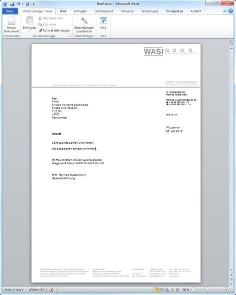 Word Vorlage Briefpapier Eworks Referenz Entwicklung Microsoft Word Vorlagen Vba Makros
