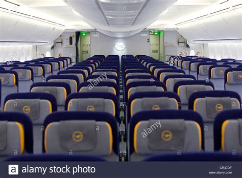 html section class the economy class section of a lufthansa boeing 747 8