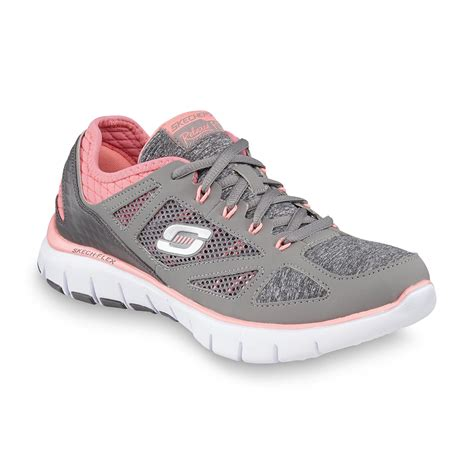 athletic shoe source skechers s relaxed fit style source gray pink