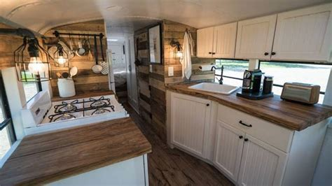 Old school bus converted into loft is traveling from