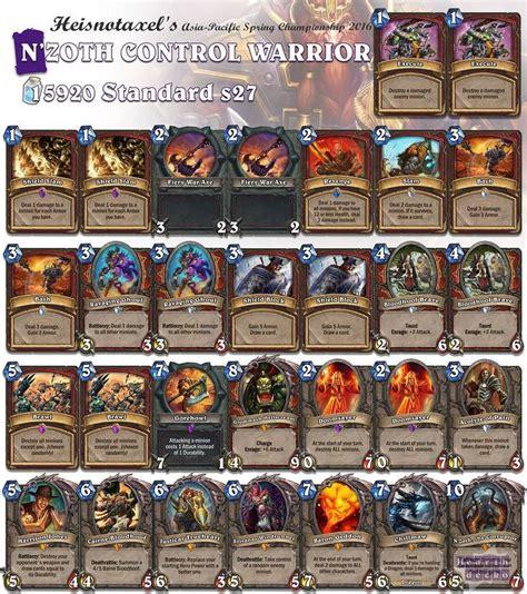 hearthstone tournament decks warrior has always been a favorite of mine now