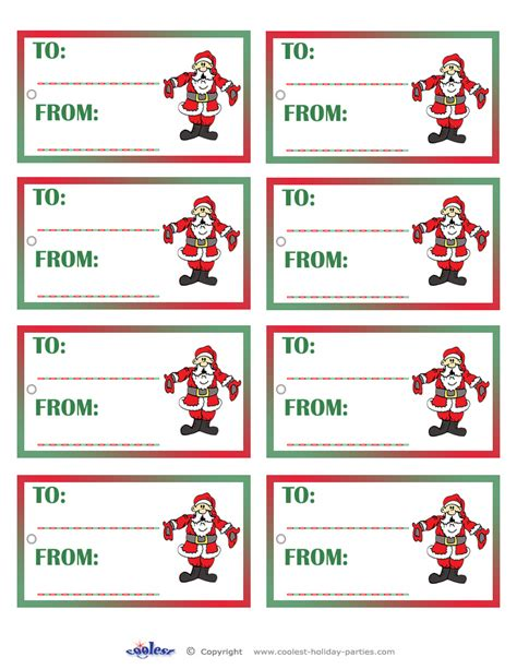 printable free secret santa gift tags search results