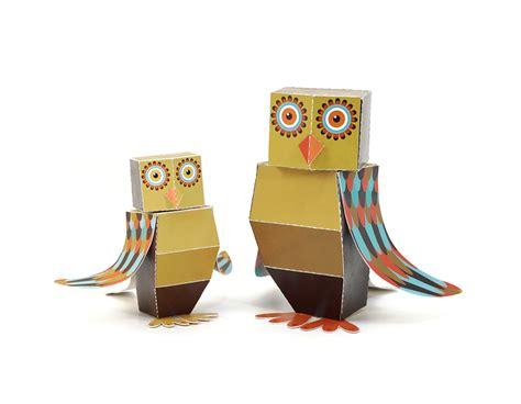 Owel Maxy maxi owl paper toys pukaca