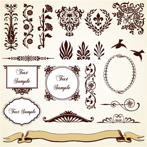 Vintage Ornament Vector Pattern | vintage pattern area borders and ornaments vector free