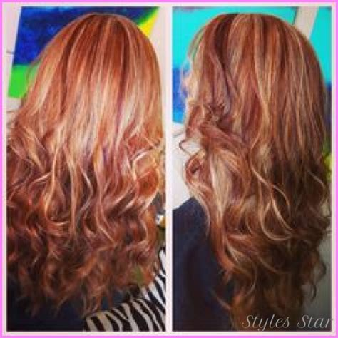 red hair highlights and lowlights highlights and lowlights for red hair stylesstar com