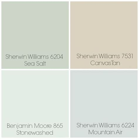 finalized the paint colors for our home sea salt entry dining room canvas living