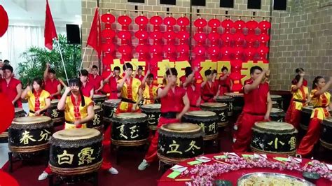 new year drum awesome 24 person drum performance for new year