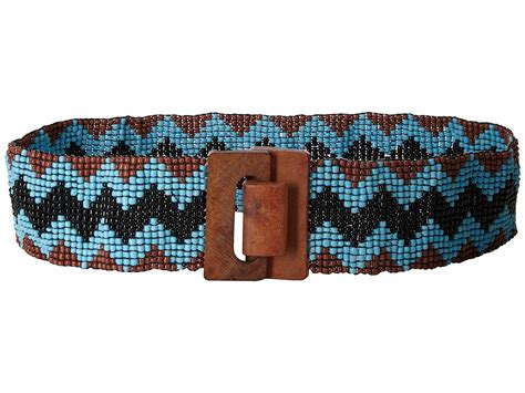 beaded stretch belt m f western wide stretch beaded chevron belt at zappos