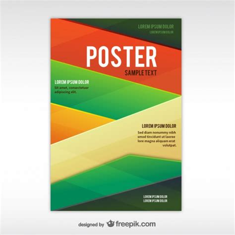 design poster template geometric abstract poster template vector free