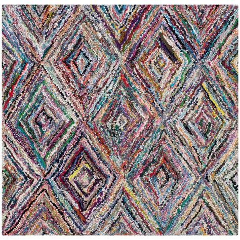 4 X 4 Area Rugs Safavieh Nantucket Multi 4 Ft X 4 Ft Square Area Rug Nan314a 4sq The Home Depot