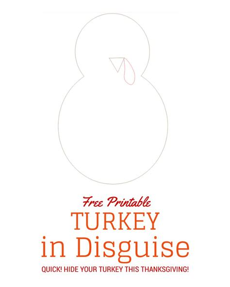 printable turkey in disguise turkey in disguise free printable template crafts