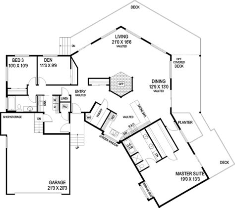 single story house floor plans plan w69022am northwest northwest style house plans 2056 square foot home 1