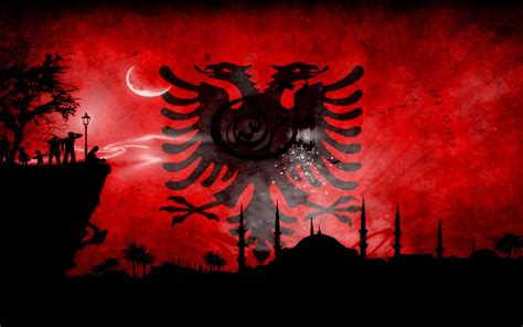 hd albanian flag wallpaper wallpaperwiki