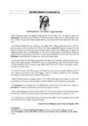 bob marley biography esl english teaching worksheets reading comprehension test