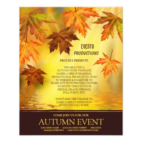 event flyer templates free fall and event flyer template zazzle