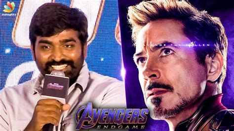 wow vijay sethupathi iron man avengers endgame