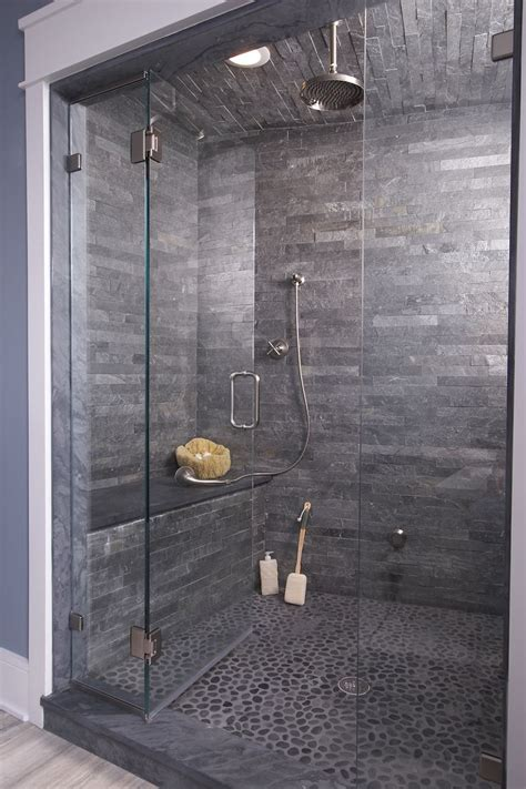grey pebble tiles bathroom 25 best ideas about slate bathroom on pinterest shower