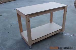 table plans small: easy portable workbench plans rogue engineer