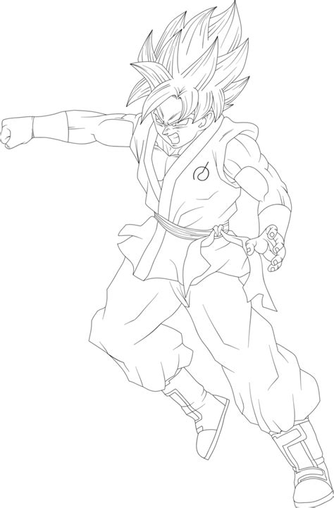 ssgss goku coloring pages goku ssgss punching lineart by dragonballaffinity on