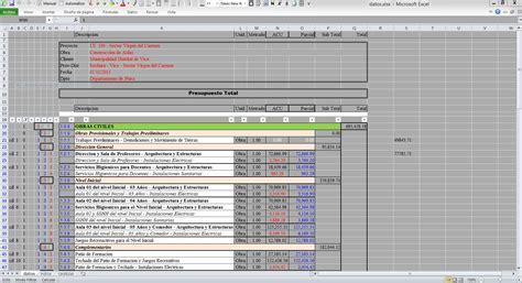 cotizacion banco republica presupuesto de obra en excel modelo de presupuesto 3 ing