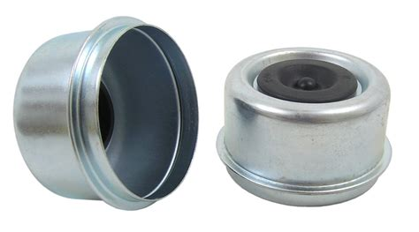boat trailer wheel bearing covers grease cap 2 44 quot od drive in with plug qty 2 truryde
