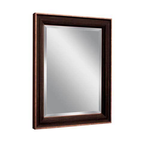 deco mirror genoa 27 in x 33 in mirror in bronze cherry deco mirror 27 5 in w x 33 5 in h barkley single mirror