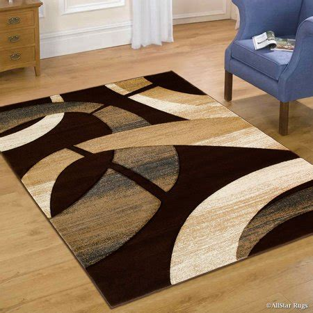 10 x 12 abstract geometric rug allstar brown carved circles modern abstract geometric
