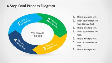 7196 01 4 step arrow diagram 1 slidemodel 4 step oval process diagram template for powerpoint