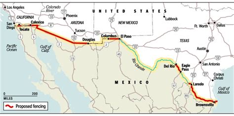 us mexico border wall map map usa and mexico border travel maps and major tourist