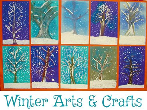 winter crafts for at school crafts from kinderart seasonal arts and crafts