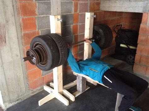 wooden rack barbell olympic weights wheel
