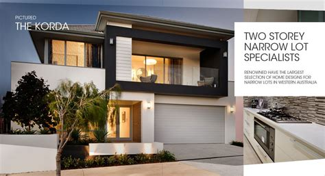 27 genius 2 storey narrow lot homes perth home plans