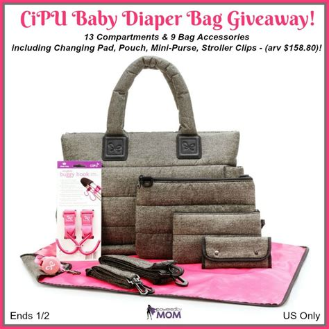 Free Diaper Giveaway - cipu baby diaper bag giveaway it s free at last