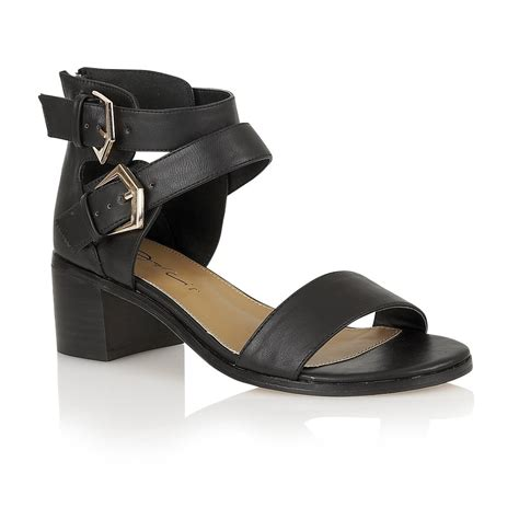 black block sandals buy dolcis ashby sandals in black