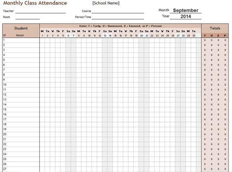 school attendance sheet template 11 free sle school attendance sheet templates